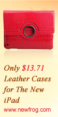 Only $13.71 Leather Cases for The New iPad