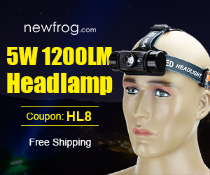 5W 1200LM Headlamp-Only $11.28 and Coupon: HL8