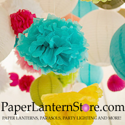 Paper Lanterns, Parasols, Party Lighting and More!