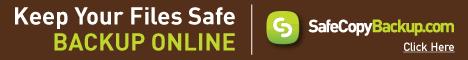 Keep Your Files Safe.  Backup Online with SafeCopyBackup.com