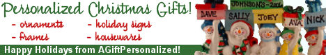 Personalized Christmas banner is a great stocking stuffer