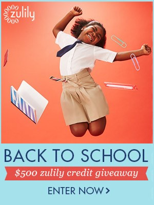 Win $500 from zulily in Back to School Giveaway! | zulily Giveaways giveaway back to school $500