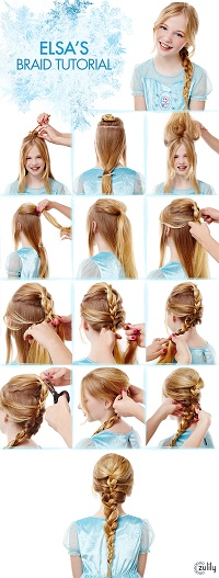 Elsa's braid tutorial, Zulily