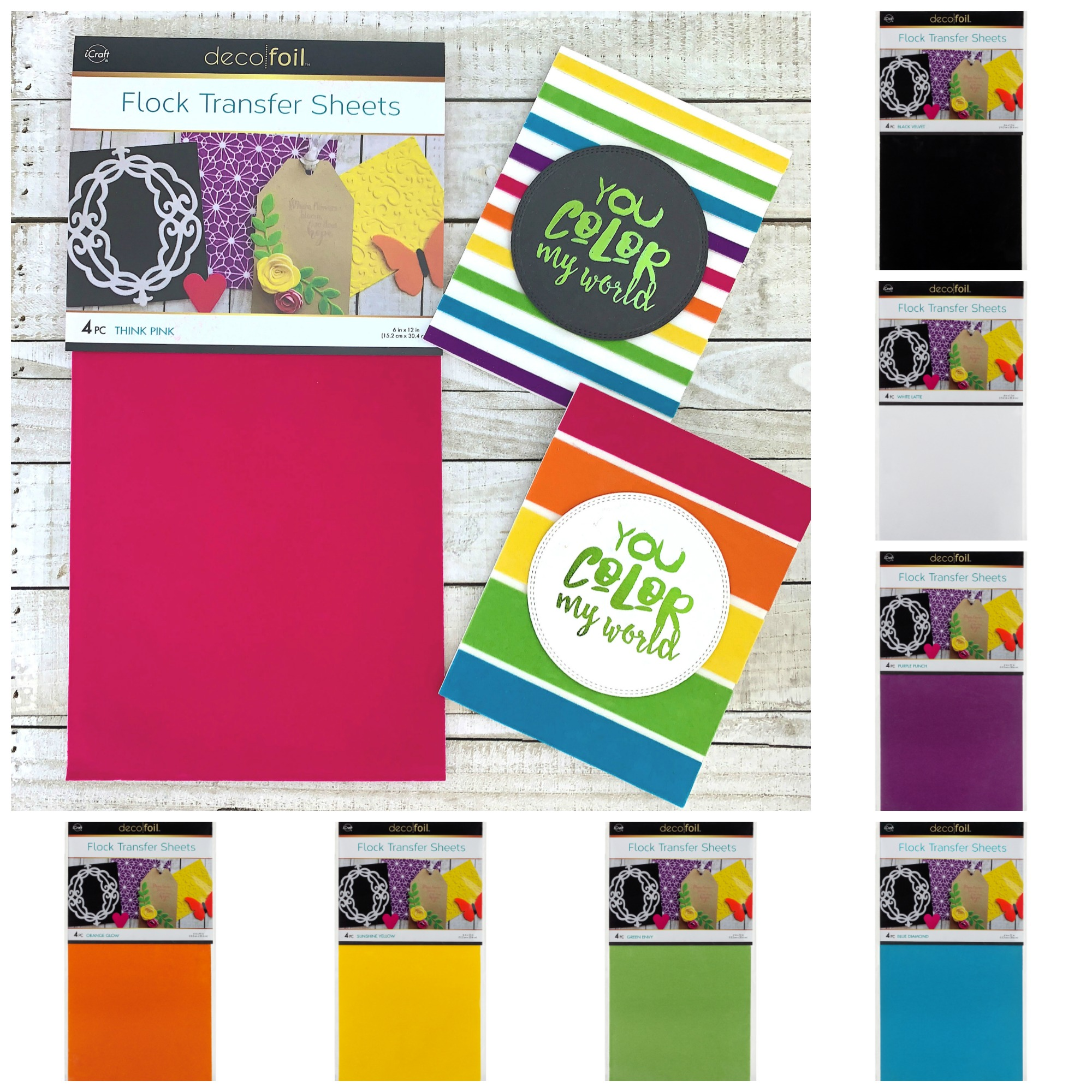 Deco Foil Flock Transfer Sheets
