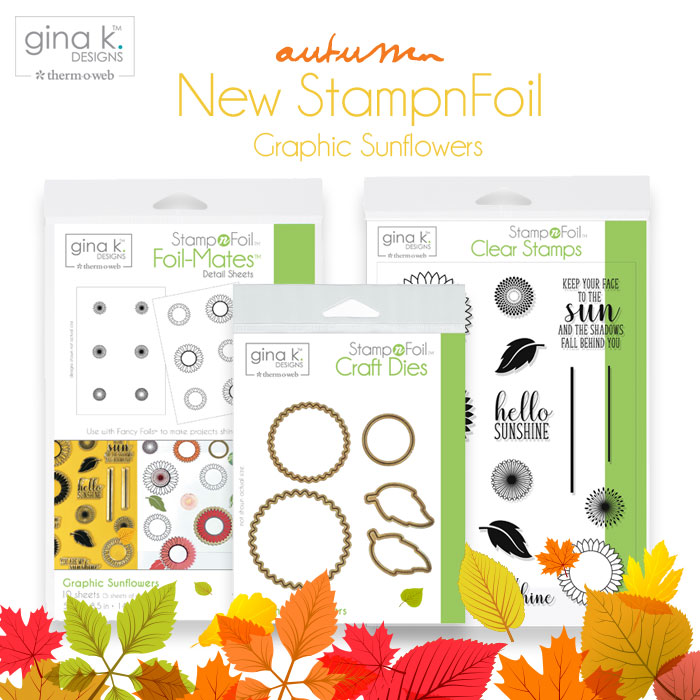 Gina K. Designs Autumn Leaves StampnFoil