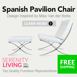 Barcelona Chair at Serenity Living 250