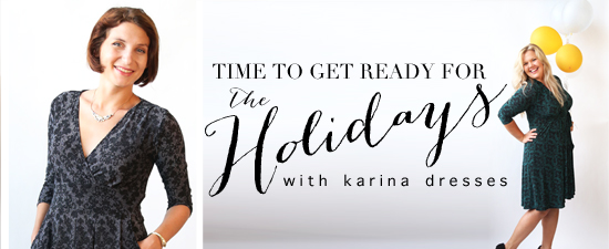 As part of my series on holiday dresses, I'm excited to introduce Karina Dresses (sizes XS-XXL). They specialize in day dresses with a retro-modern twist. #karinadresses #retro #vintage #ootd #outfit #holiday #christmas #dress