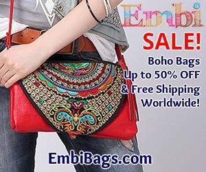 Embi Bags Red Boho Purse 300x250 Xmas Sales Free Shipping
