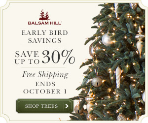 Balsam Hill's Early Bird Savings
