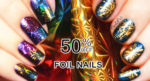 bornprettystore nail art foil stickers $0.99 on sale