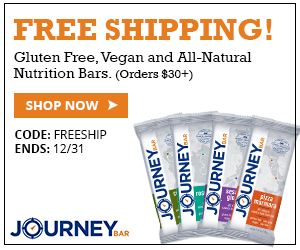 Free Shipping on Orders Over $30 by Journey Bar