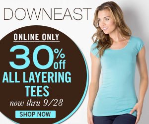 DEB 300x250 DownEast Layering Tees for 30% Off! Wonder Tee for $7.69!