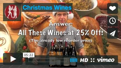 Holiday Dinner Wines 25% off! See our Perfect Pairings!