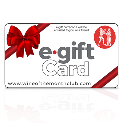 $100 e-gift Cards available from Wine of the Month Club