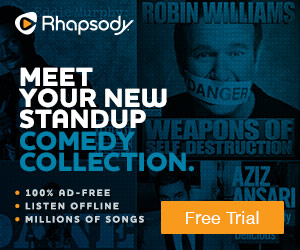 Listen to your favorite comedians on Rhapsody