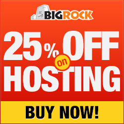 25% off on Web Hosting