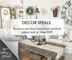 The best daily deals site for farmhouse decor for cheap! Get cheap farmhouse decor that you can't find anywhere else!