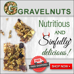 GRAVELNUTS. Nutritious and sinfully delicious.