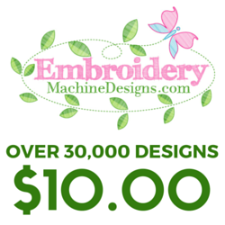 $20 Off a One Year Subscription for unlimited embroidery machine downloads