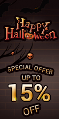 Get up to 40% off for Halloween.