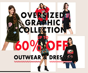 Get Up to 60% OFF Outwear & Dresses.