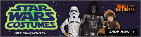 Star Wars Costumes - Chewbacca, Stormtrooper, Darth Vader