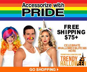 Accessorize with pride - & rainbow colors via TrendyHalloween.com
