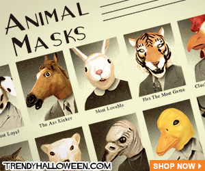 Animal Masks for every class act & easy Halloween Costume. Visit TrendyHalloween.com