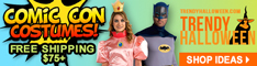 Comic Con Costumes ready for wear or Cosplay building via TrendyHallloween.com