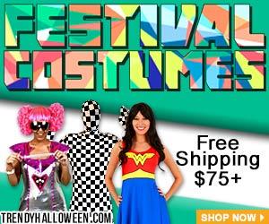 Shop fun Festival Costumes, bodysuits, rainbow, sparkly & more via Trendyhalloween.com