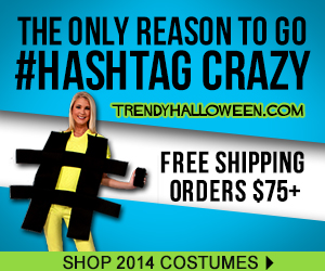 Go ahead, go hashtag crazy with our new Halloween costumes for 2014. Shop Trendyhalloween.com