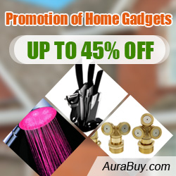 Promotion of Home Gadgets @Aurabuy: Up to 45% on Selected products, plus free shipping.