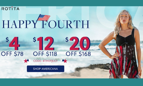 Happy Fourth $4 OFF $78?$12 OFF $118?$20 OFF $168 Code?4THOFJULY