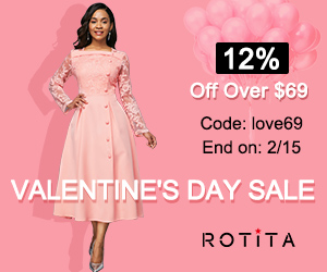 Valentine's Day Sale          12% Off Over $69          Code: love69 End on: 2/15