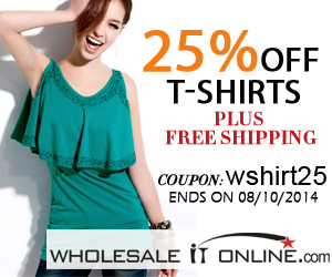 25% off women's tees, t-shirts plus free shipping 330*250