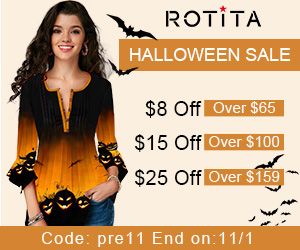 Halloween Sale:$8 Off Over $65, $15 Off Over $100, $25 Off Over $159,Code: pre11 End on:11/1