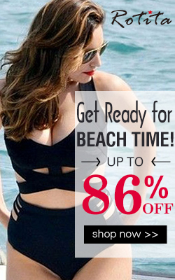 Get ready for beach time! Sexy swimwear up to 86% off