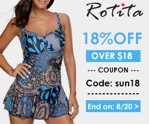 18% off Over $18 Coupon Code: sun18 End on: 8/20