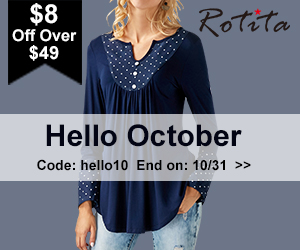 Hello October : $8 Off Over $49, Code: hello10 End on: 10/31