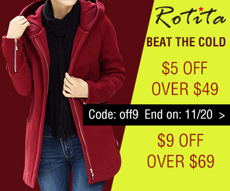 Beat the Cold: $5 Off Over $49, $9 Off Over $69, Code: off9 End on: 11/20
