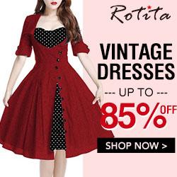 Vintage Dress, Up to 85% off