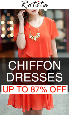Chiffon Dresses Up to 87% Off