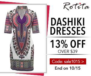 Dashiki Dress 13% off over $39