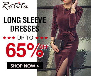 Long Sleeve Dress, Up to 65% off