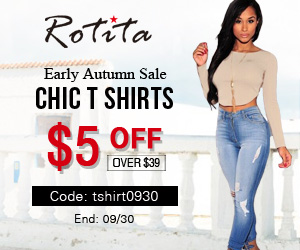 Early Autumn Sale  Chic T Shirts  $5 off over $39  Code: tshirt0930  End: 09/30