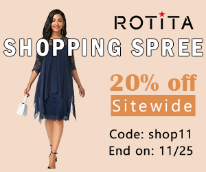 Shopping Spree          20% off Sitewide          Code: shop11 End on: 11/25