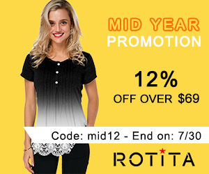 Mid Year Promotion 12% off over $69 , Code: mid12 End on: 7/30