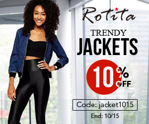 10% off for trendy jacket Code: jacket1015  End: 10/15