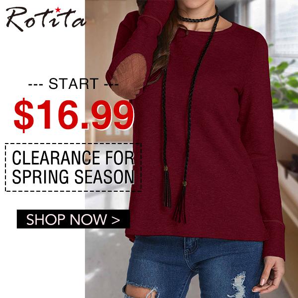 Clearance For Spring Season Start $16.99