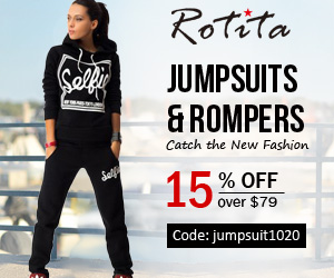 15% off for Jumpsuits& Rompers  15% off over $79 Code: jumpsuit1020 End: 10/25